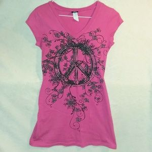 Vanity peace sign t-shirt